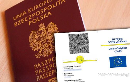 Zaświadczenie o szczepieniu Covid 19, Paszport UCC, Negatywny test Covid